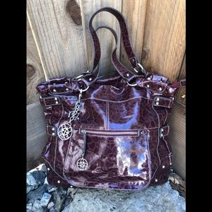 Nicole Miller Large Paten Leather. PURPLE-ish